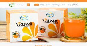 Thiết kế website Tinh bột nghệ Nano Curcumin