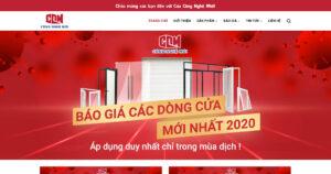 Thiết kế website Nhôm kính