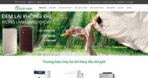 Thiết kế website Máy lọc khí