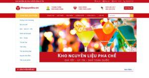 Thiết kế website Nguyên liệu pha chế