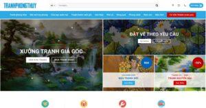 Thiết kế website Tranh Phong Thuỷ